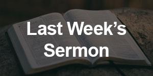 First United Methodist Church of Menominee, MI (Last Week's Sermon)